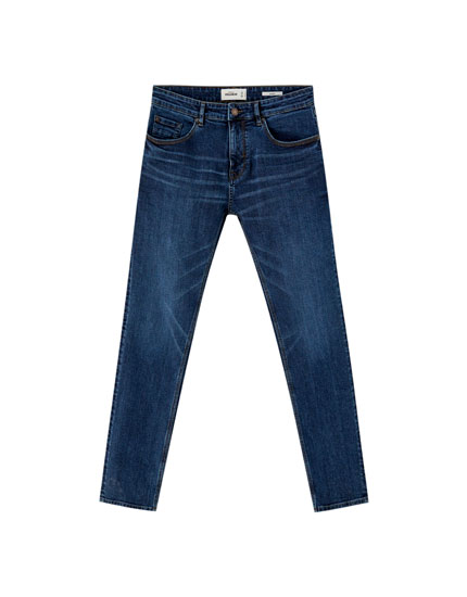Jeans skinny fit azul oscuro