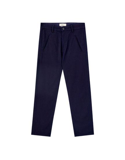 Pantalón chino denim azul