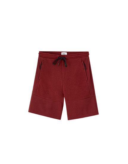 Piqué Bermuda jogging shorts