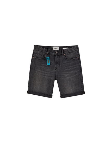 Bermudes texanes slim confort fit negres