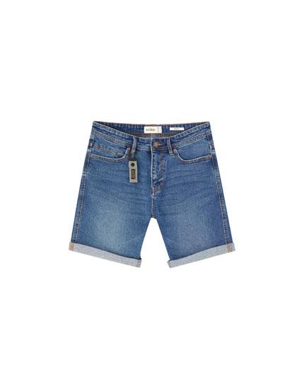 Slim comfort fit denim Bermuda shorts