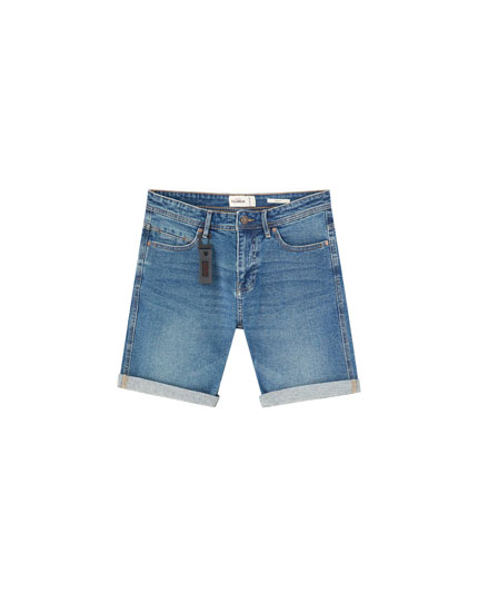 Slim comfort fit denim Bermuda shorts