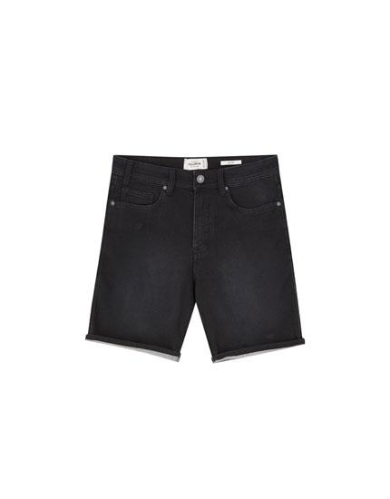 Jeansowe bermudy basic