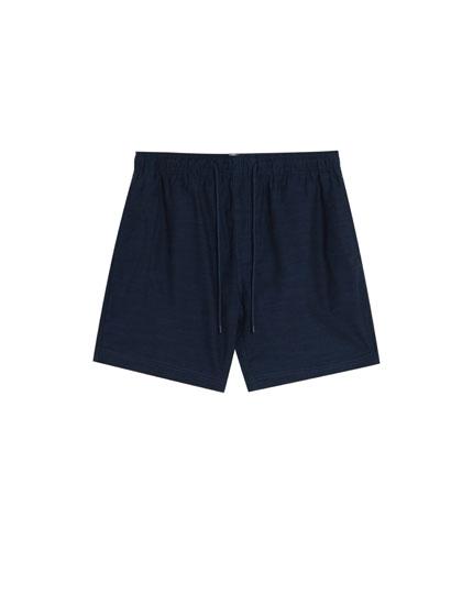 Basic Bermuda shorts with drawstrings
