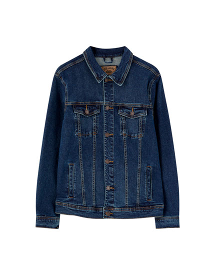 Dark blue comfort denim jacket