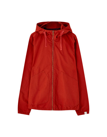 Basic poplin jacket