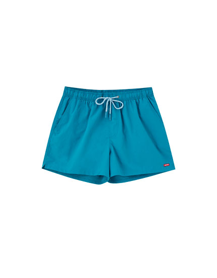 Basic swimming trunks with logo