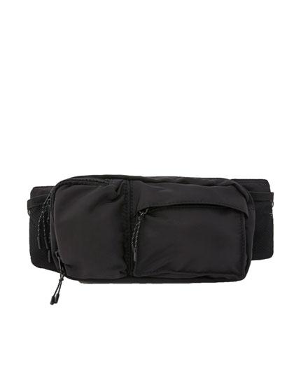 Riñonera bolsillos negra