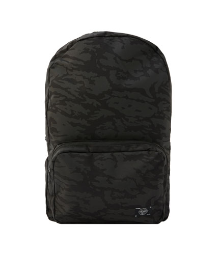 Black camouflage backpack