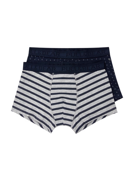 2-pack of anchor and striped boxers