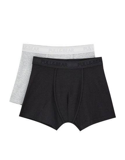 2-Pack of black and blue boxers