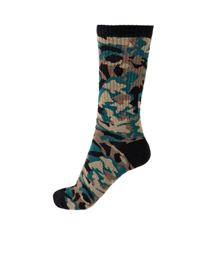 Long camouflage socks