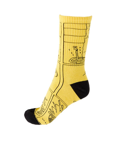 Calcetines Snoopy largos amarillo