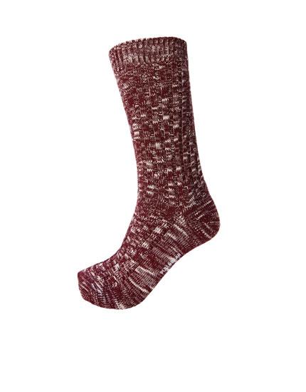 Red flecked sports socks