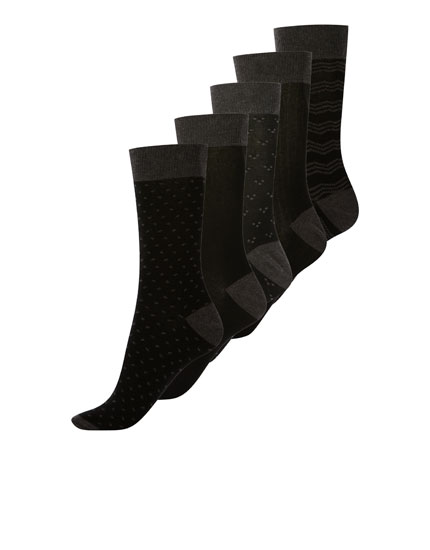 5-pack of striped sports socks