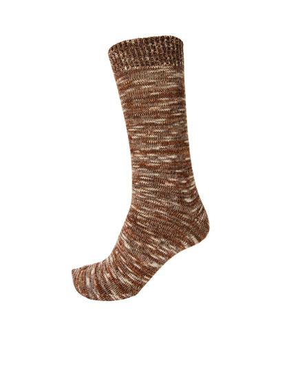 Melange sports socks