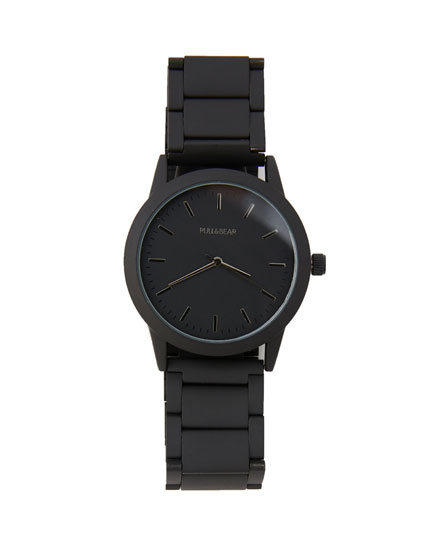 Reloj negro mate