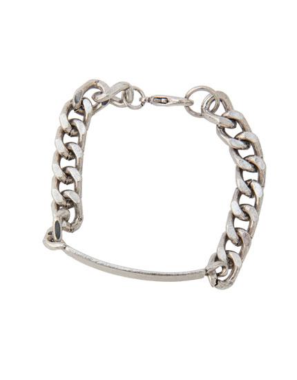 Bracelet maillons argenté