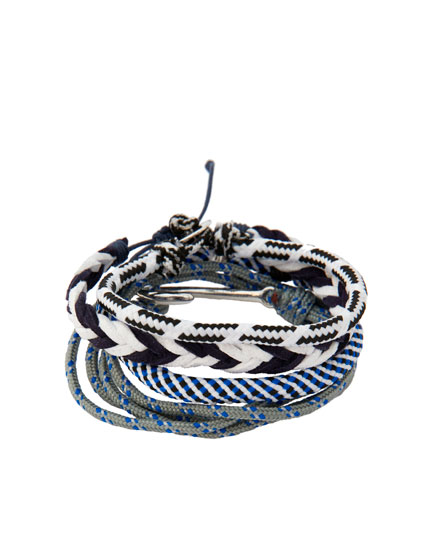 Pack of 4 braided nautical bracelets
