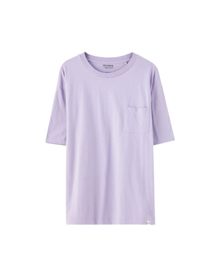 Camiseta básica algodón bolsillo