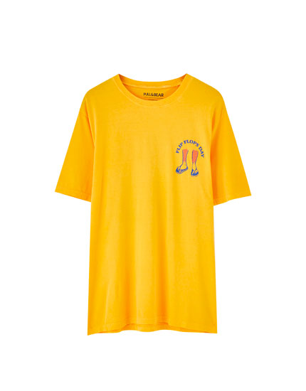 T-shirt with coloured print