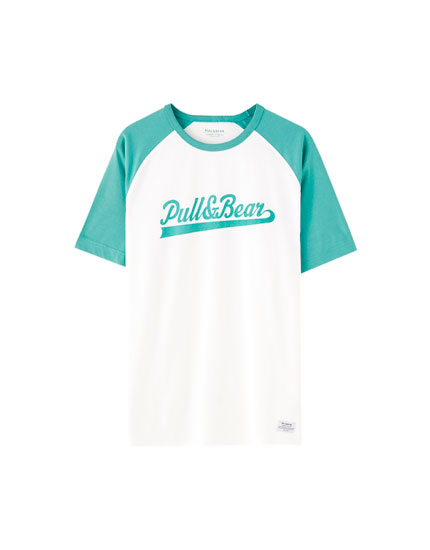 Raglan sleeve T-shirt with logo