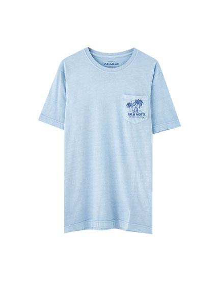 Camiseta print pecho colores
