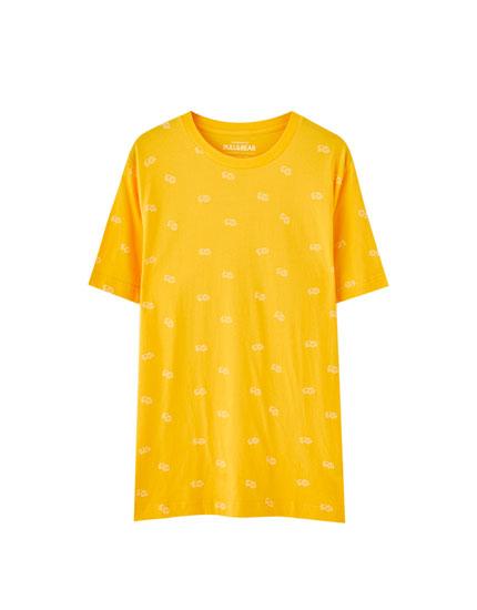 Colourful micro print T-shirt