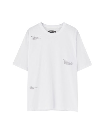 White T-shirt with slogans