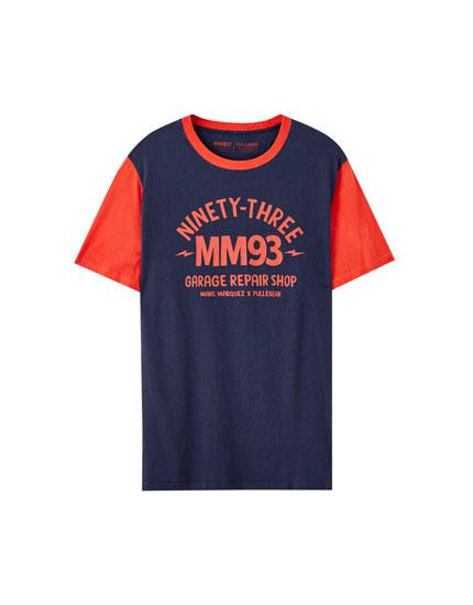 Marc Márquez contrast sleeve T-shirt
