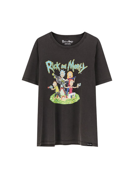 T-shirt do Rick & Morty preta