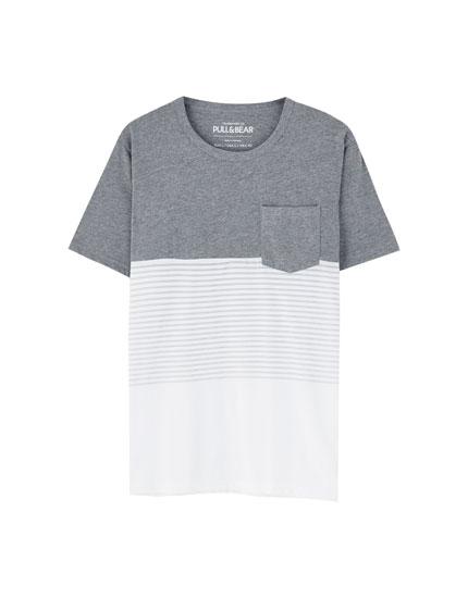 Camiseta paneles rayas