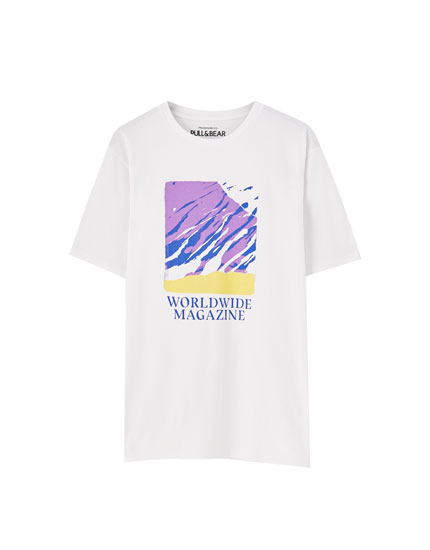Worldwide Magazine print T-shirt