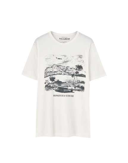 White Honolulu T-shirt