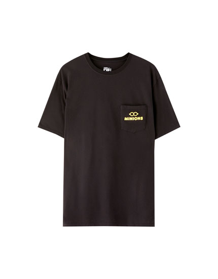 Black Minions T-shirt with pocket