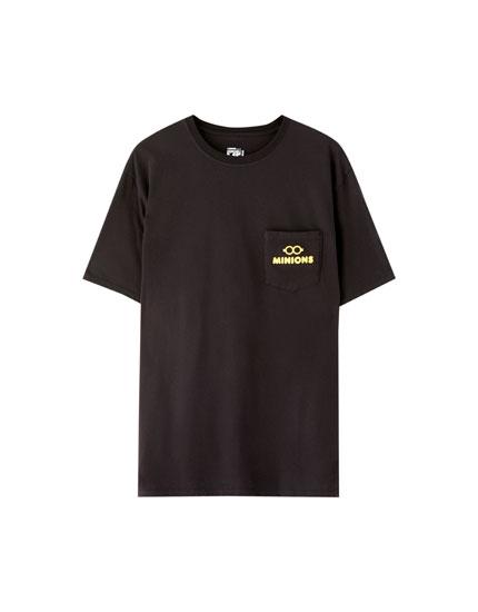 T-shirt dos Minions com bolso preta