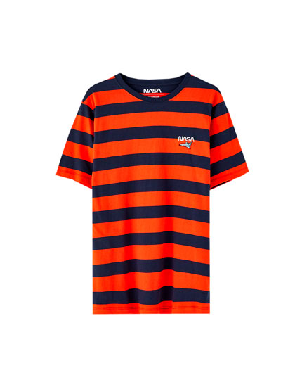 Striped NASA T-shirt
