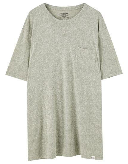Μπλούζα basic με τσέπη σε διάφορα χρώματα