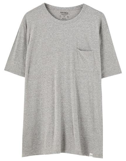 T-shirt basique poche plusieurs couleurs