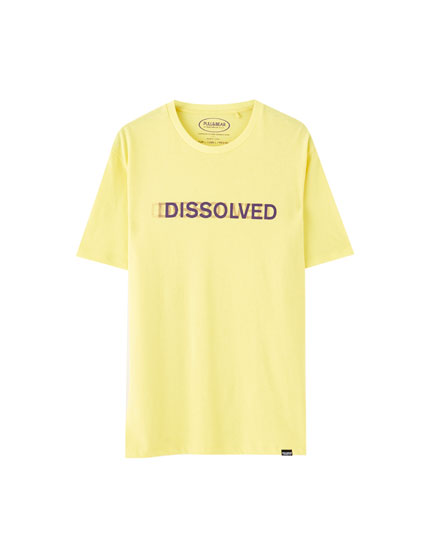 Yellow 'Dissolved' T-shirt