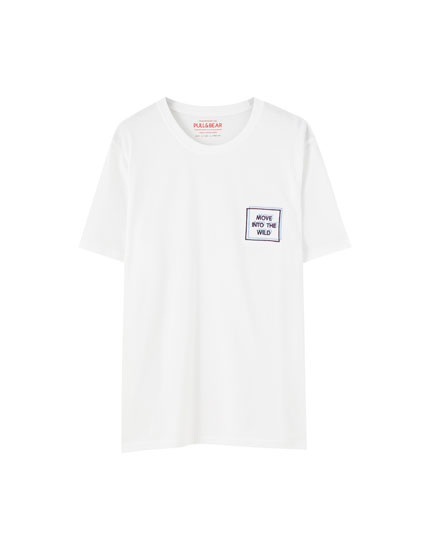 T-shirt with embroidered chest