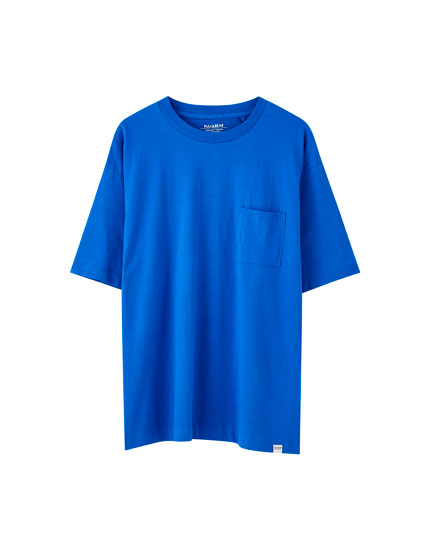 Basic-Shirt in Marineblau