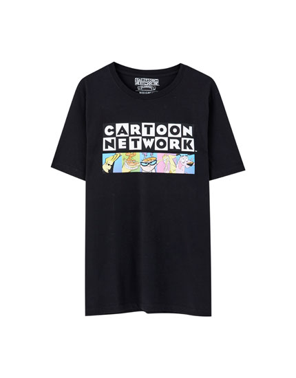 T-shirt preta Cartoon Network