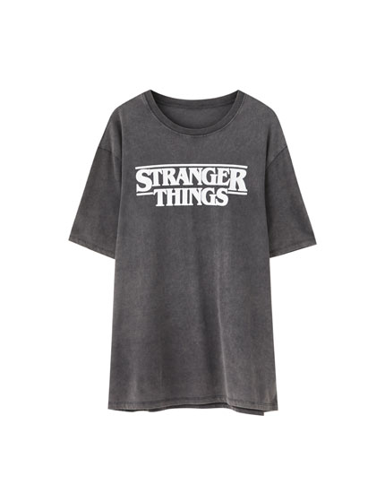 T-shirt Stranger Things 3 noir logo