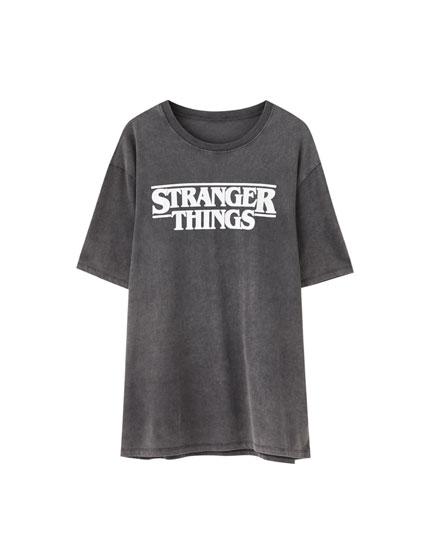 Black Stranger Things 3 logo T-shirt
