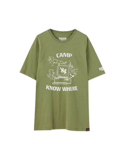 Camiseta Stranger Things 3 verde