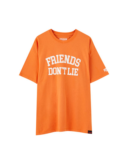 T-shirt Stranger Things 3 orange