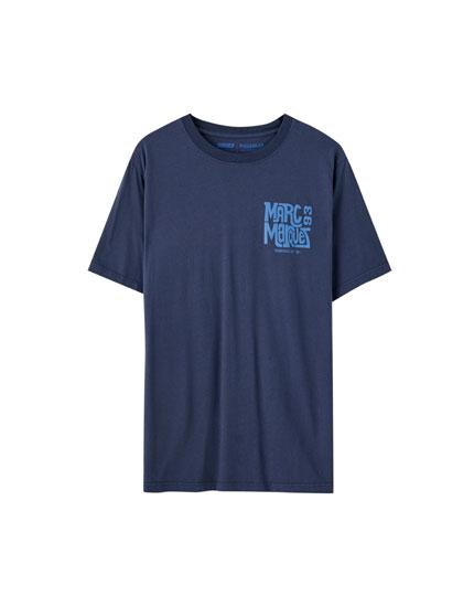 T-shirt Marc Márquez com estampado duplo