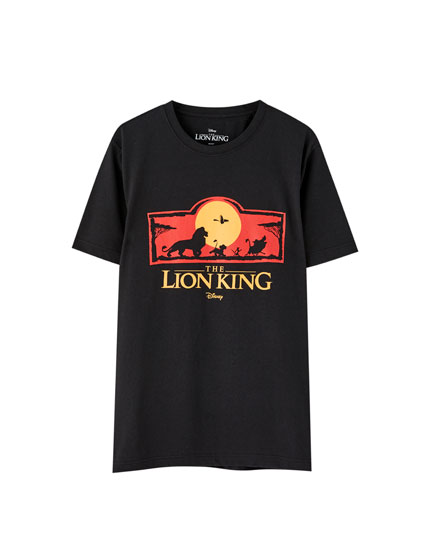 Black Lion King logo T-shirt