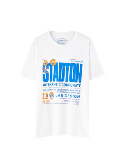 White Stadton T-shirt